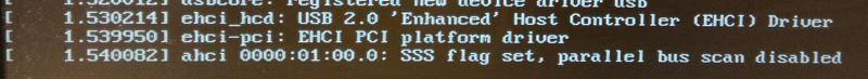 33poslední řádky z logu instalace