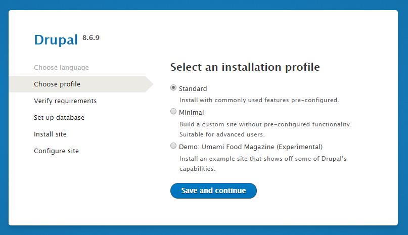 33výběr instalačního profilu
