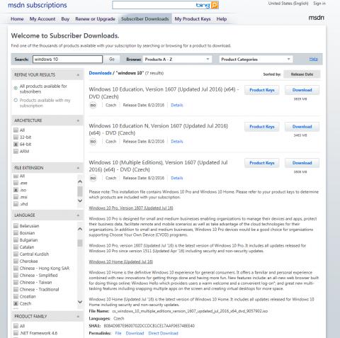Původní MSDN portal