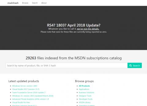 msdnhash homepage
